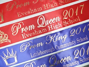Personalised Prom Sash